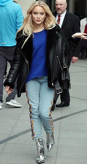 Zara Larsson รองเท้า Kurt Geiger