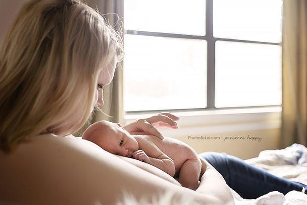 ภาพถ่ายแม่กับทารกหลังคลอด