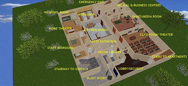 หลุมหลบภัยนิวเคลียร์ทนแรงระเบิดได้ 20 กิโลต้น