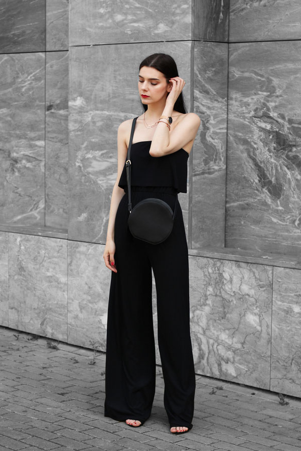 In The Style Jumpsuit, In The Style Sandals, Vipme Bags, Daniel Wellington Watch