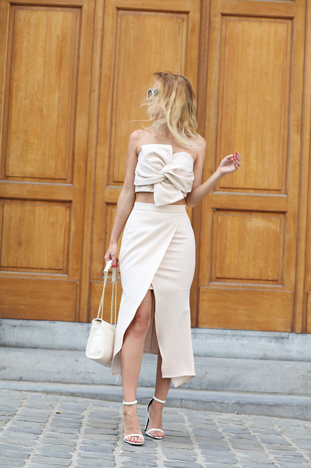 Chicwish Dress, Missguided Sandals, Dezzal Bag