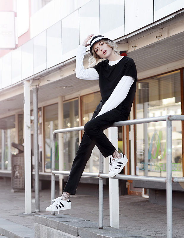 Yunkyard Top, Adidas Sneakers, Junkyard Hat