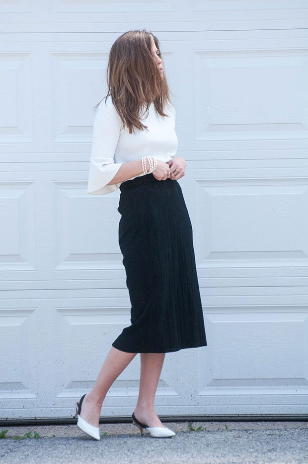 Zara Top, Forever 21 Skirt, Zara Shoes