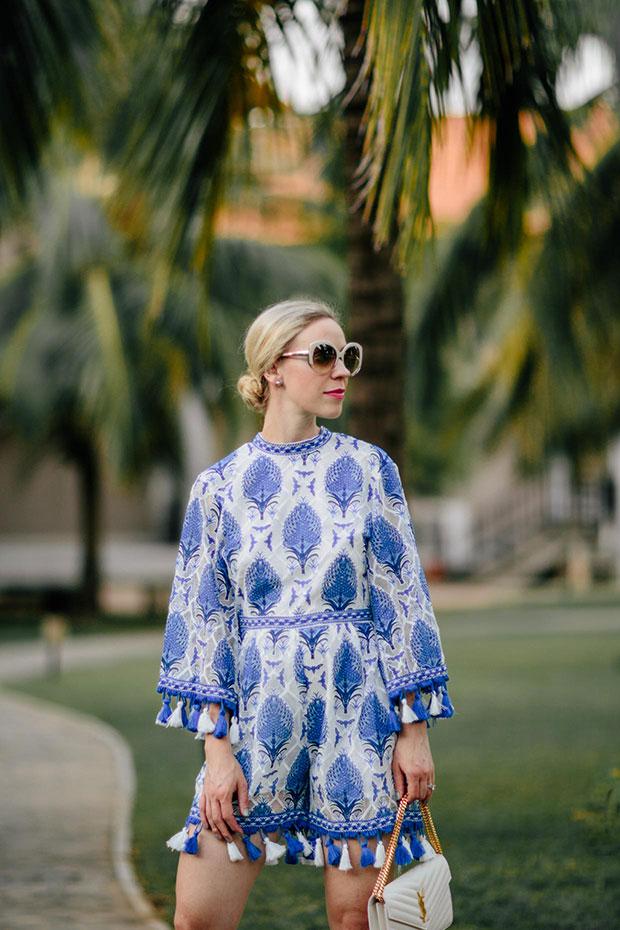 รอมเปอร์ Shein, รองเท้า Gucci, กระเป๋า Saint Laurent, แว่นตากันแดด Dior