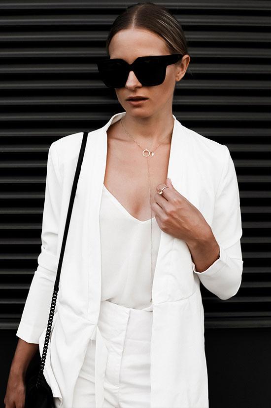 เสื้อสูท New Look, เสื้อ Metisu, กระเป๋า Rebecca Minkoff, รองเท้า Misguided