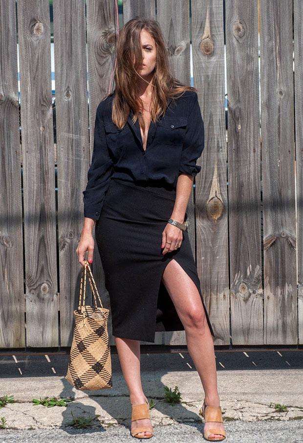 เสื้อ Vintage, กระโปรง Zara, รองเท้า Calvin Klein, กระเป๋า Vintage