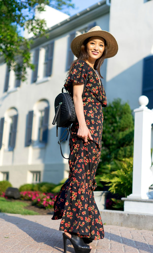 Asos Dress, Aldo Shoes, Violet Ray Bag, Dynamic Asia Hat