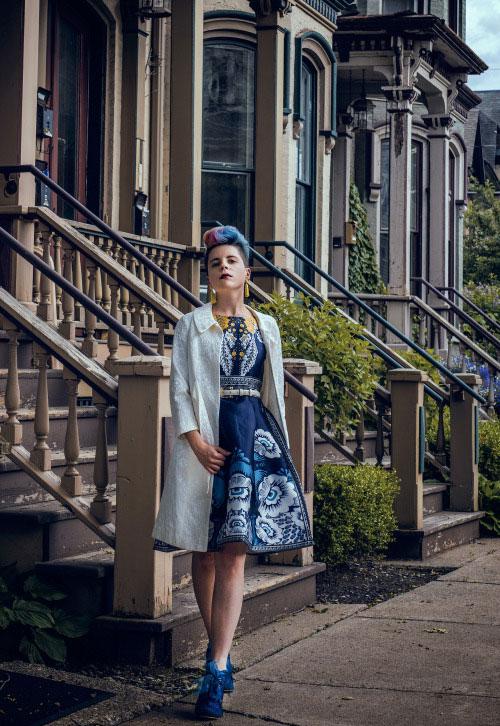 VIPme Dress, Irregular Choice Shoes, BaubleBar Earrings