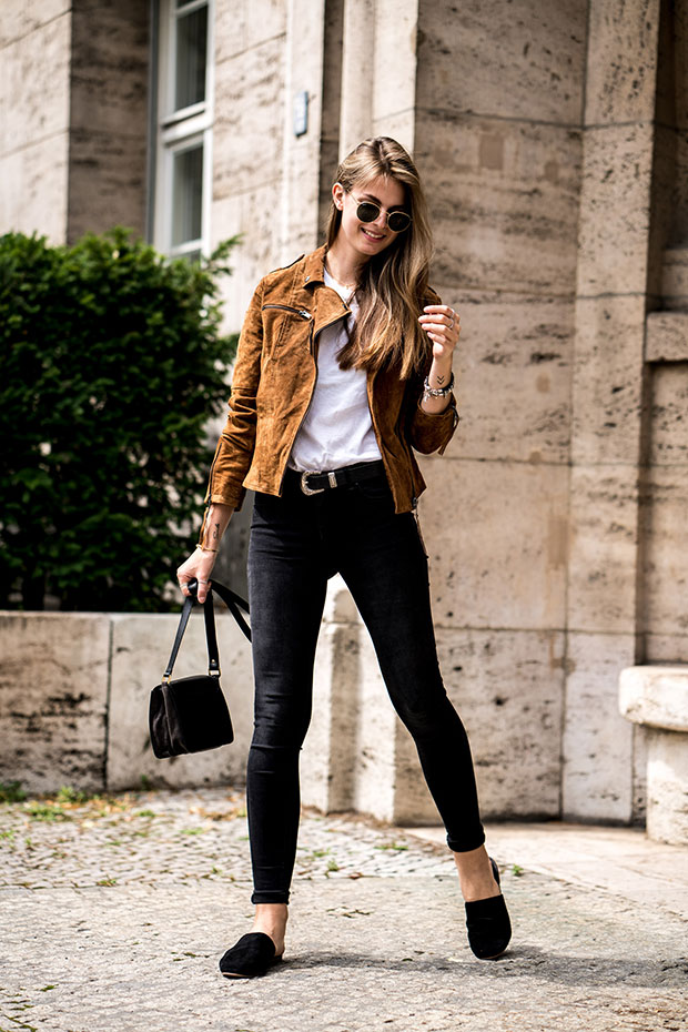 Vila Jacket, Vagabond Sandals, Ray Ban Sunglasses