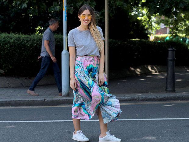 Zara Top, Asos Skirt, Adidas Sneakers, Michael Kors Bag
