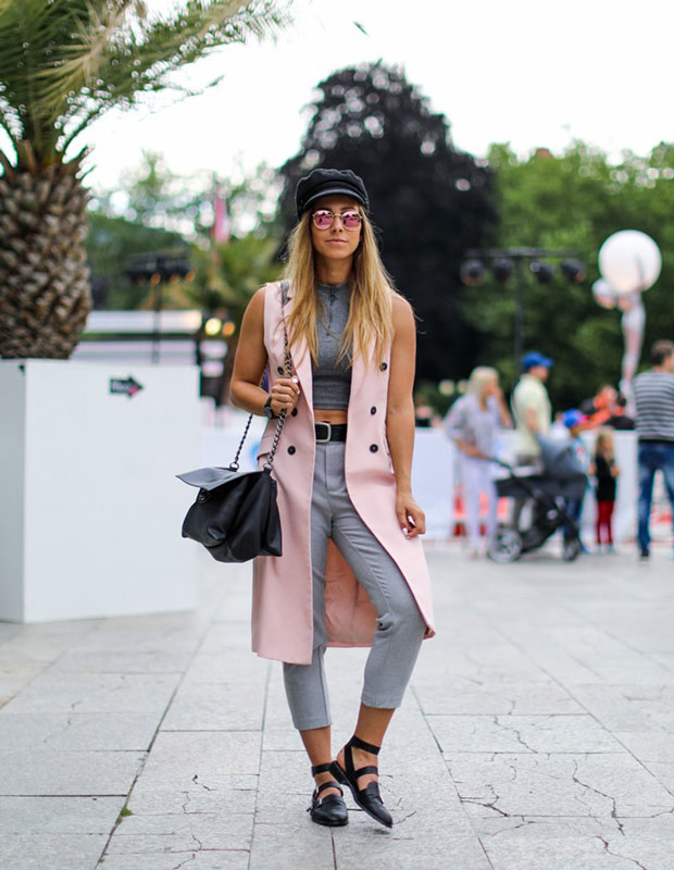 Zara Vest, Zara Trousers, Asos Sandals, Pull & Bear Handbag, H&M Hat
