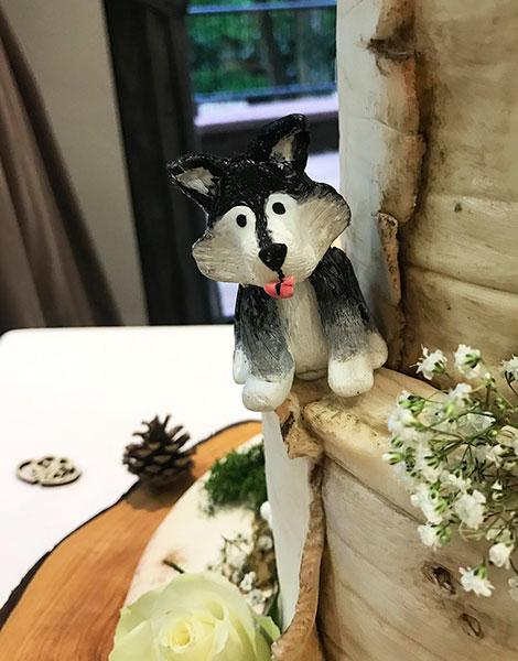 เค้กแต่งงานมีน้องหมา