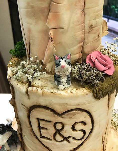 เค้กแต่งงานมีแมว