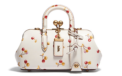 กระเป๋า Coach Cherry Print Kisslock Satchel