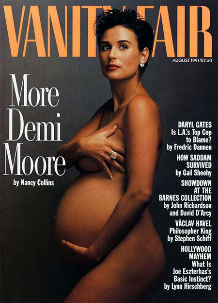 คนดังที่ถ่ายแบบเปลือยขึ้นปกนิตยสารขณะตั้งครรภ์