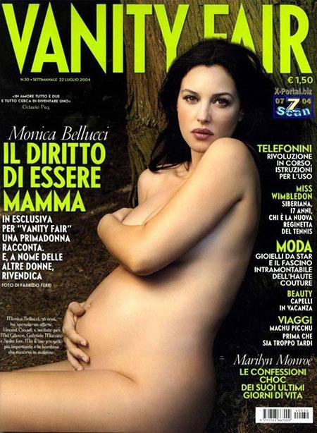 คนดังที่ถ่ายแบบเปลือยขึ้นปกนิตยสารแฟชั่นขณะตั้งครรภ์