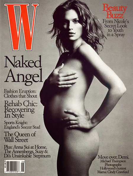 คนดังที่เคยถ่ายแบบเปลือยขึ้นปกนิตยสารแฟชั่นขณะตั้งครรภ์