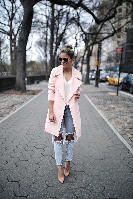 เสื้อโค้ทสีพาสเทลกับกระเป๋าลายน่ารักๆ