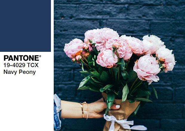 ไอเดียแต่งตัวสีน้ำเงินเข้มของดอกพิโอนี