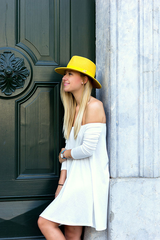 Asos Dress, Massimo Dutti Shoes, The Blonde Bliss Hat, Cluse Watch