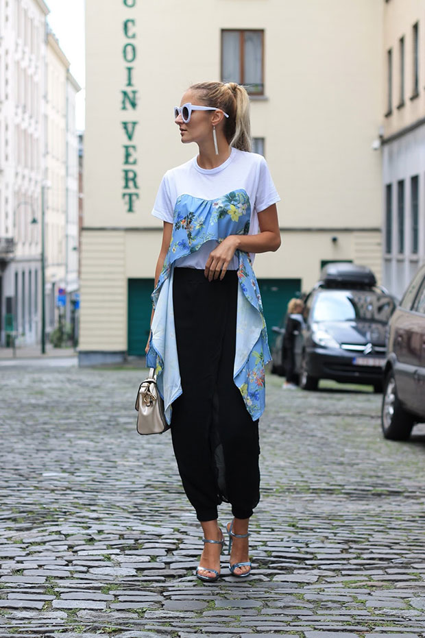 Zaful Top, Sammydress Pants, Schutz Sandals, Jollychic Bag