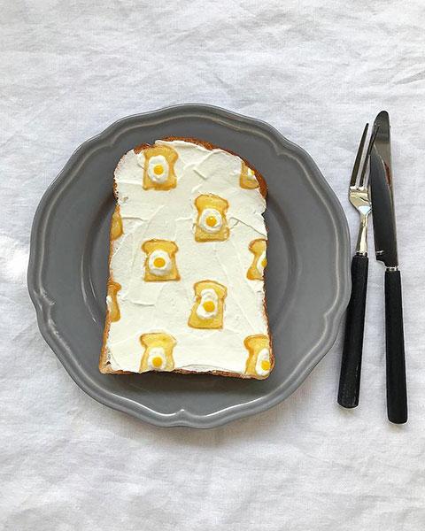 ขนมปังลวดลายขนมปังไข่ดาว