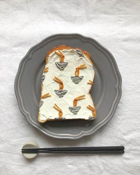 ขนมปังลวดลายบะหมี่