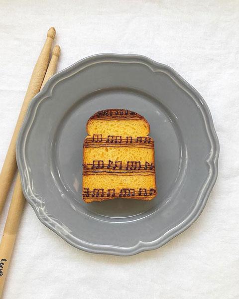 ขนมปังลวดลายโน้ตเพลง