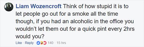 ผู้ที่ไม่สูบบุหรี่ควรได้วันหยุดมากกว่าผู้ที่สูบบุหรี่หรือเปล่า