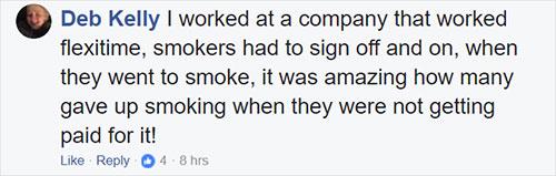 ผู้ที่ไม่สูบบุหรี่ควรได้วันหยุดมากกว่าผู้ที่สูบบุหรี่หรือไม่