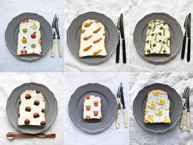 สร้างสรรค์ศิลปะสุดน่ารักลงบนขนมปัง