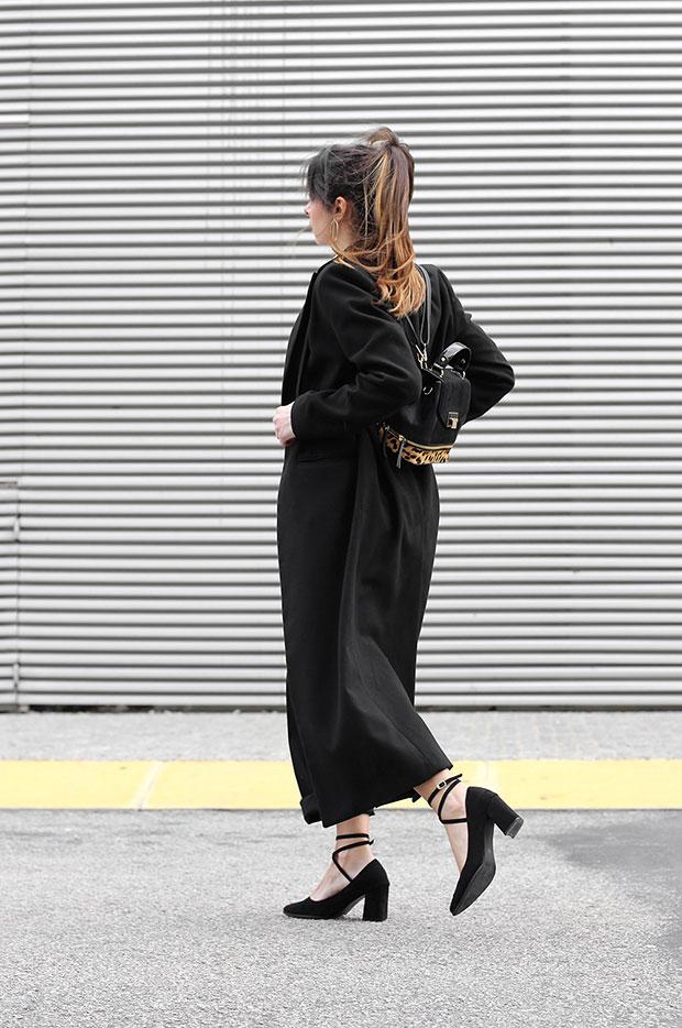 เสื้อโค้ท H&M, เสื้อเชิ้ต Zara, กางเกง Zara, กระเป๋าเป้ Parfois, รองเท้า Lovelywholesale