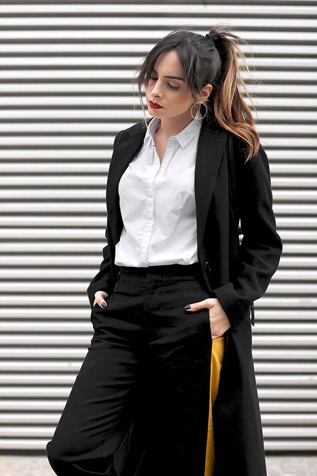 เสื้อโค้ท H&M, เสื้อเชิ้ต Zara, กางเกง Zara, รองเท้า Lovelywholesale, กระเป๋าเป้ Parfois