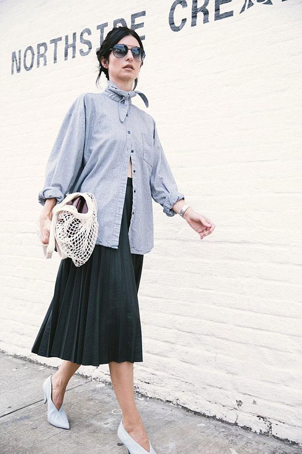 Berry N Shirt, Moscov Skirt, Celine Shoes, Chanel Bag