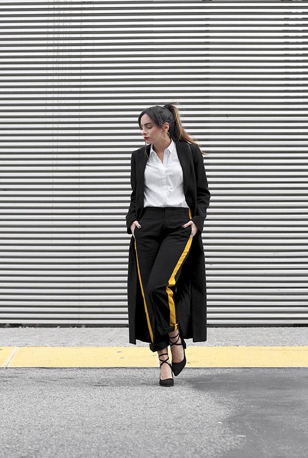 H&M Coat, Zara Shirt, Zara Pants, Lovelywholesale Shoes, Parfois Backpack