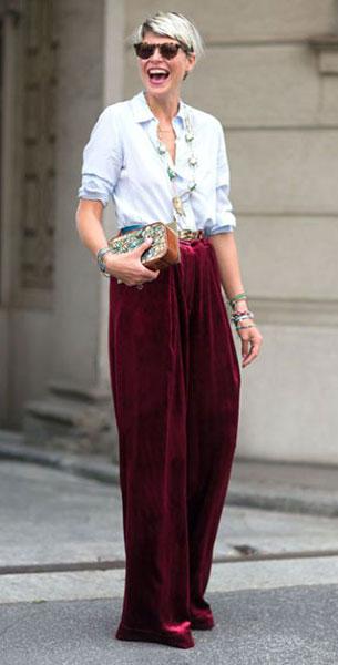 กางเกงกำมะหยี่สีเลือดหมู, เสื้อเชิ้ต