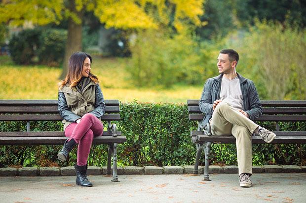 การนั่งสบตากับคนแปลกหน้าเป็นโครงการใหม่