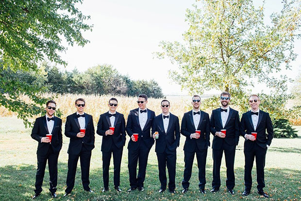 ภาพเพื่อนเจ้าบ่าวในงานแต่งงาน