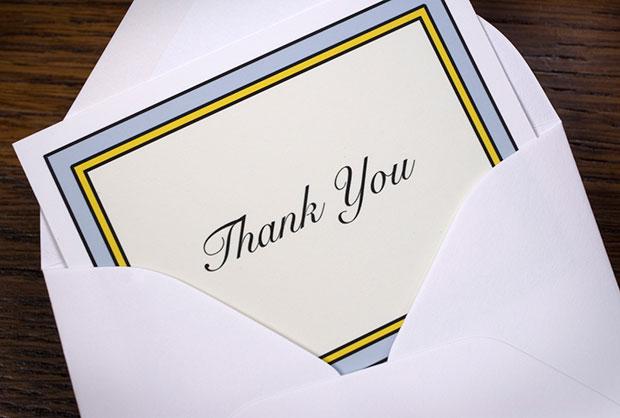 วิธีเขียนจดหมายขอบคุณ