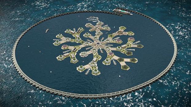 เมืองลอยน้ำแห่งแรกของโลกที่จะปรากฏในมหาสมุทรแปซิฟิกปี 2020 รวมถึงวิถีชีวิตบนนั้น