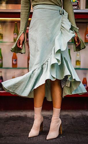 Sock Boots Tony Bianco, เสื้อ Zara, กระโปรง Zara, กระเป๋า Bag, แว่นตากันแดด Gentle Monster