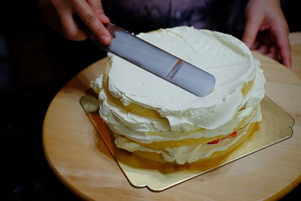 สตรอเบอรี่ช็อทเค้ก DIY