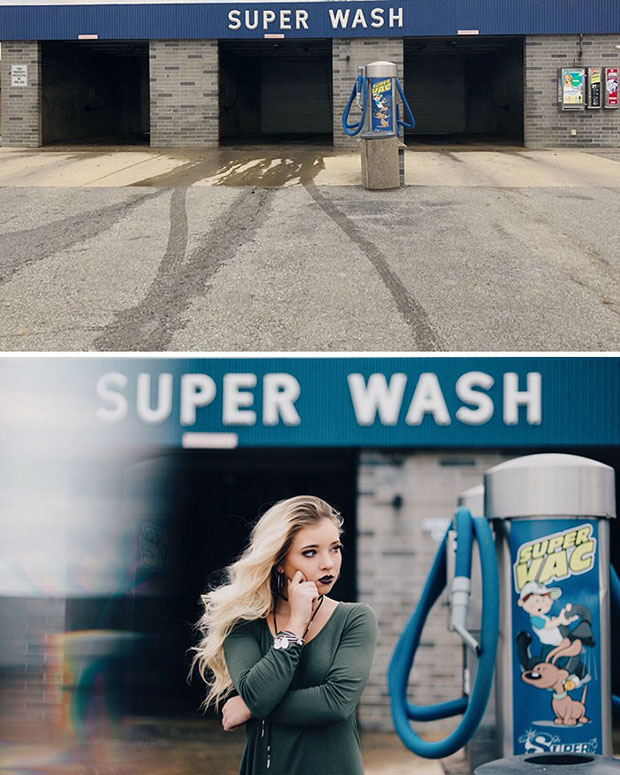 เปลี่ยนบริการล้างรถให้กลายเป็นมุมถ่ายรูปสวยๆ