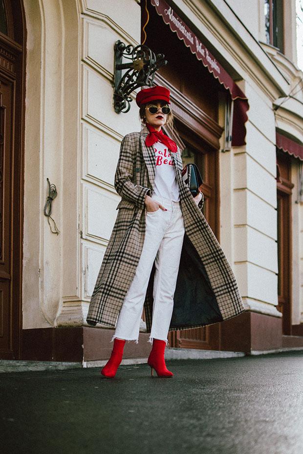 เสื้อโค้ท Mango, เสื้อยืด Mango, กางเกงยีนส์ Mango, รองเท้าบู๊ท Ego, กระเป๋า Cavalli Class, แว่นตากันแดด ZeroUV
