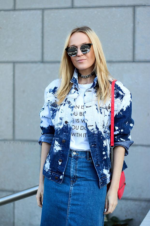 Forever 21 Jacket, Zara Skirt, Zara Shoes, H&M Bag, Zara Necklace