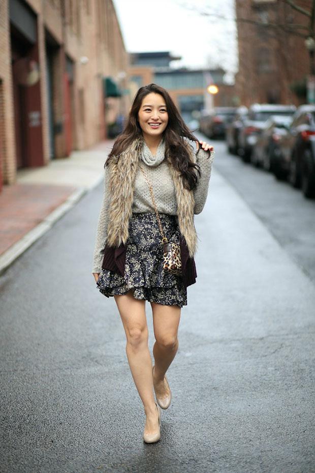 Laila Jayde Sweater, Zara Skirt, Jessica Simpson Shoes, Tory Burch Bag