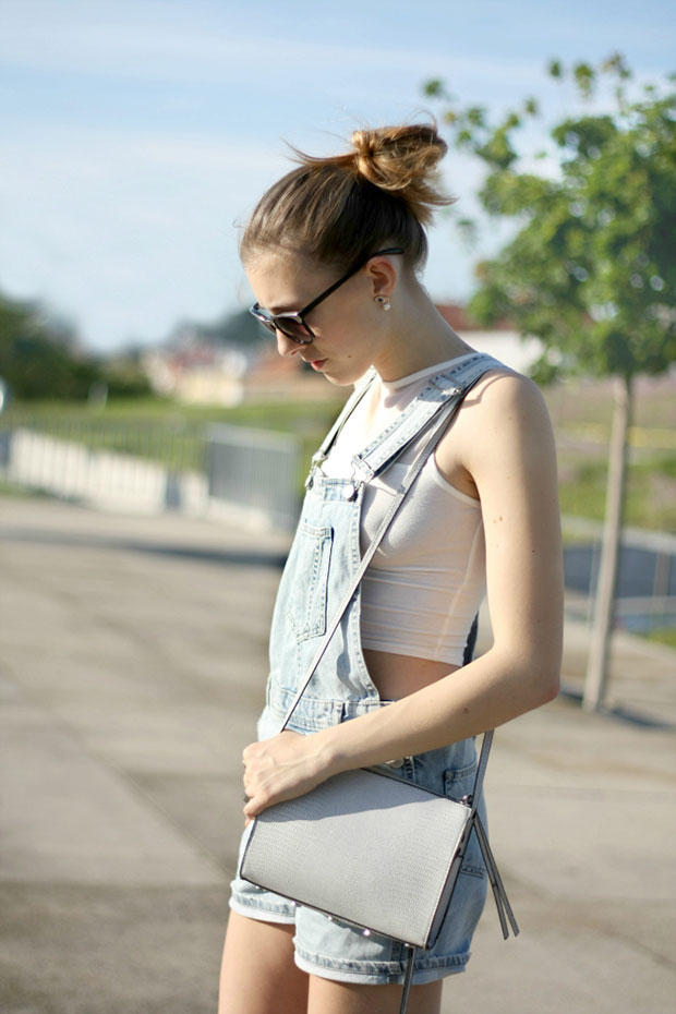 Topshop Dungaree, Primark Top, Zara Shoes, H&M Bag, Lindex Sunglasses