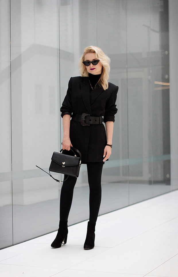 Zara Turtleneck, Stradivarius Boots, TheBlogShop Glasses, Bergstern Watch, AriaStyle Necklace