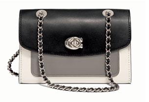 กระเป๋า Colorblock Leather Parker Shoulder Bag