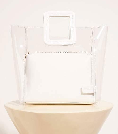 กระเป๋า Staud Shirley Bag in Clear White